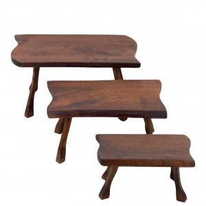 Set of trunk slab side tables