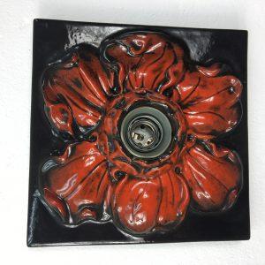 Ceramic floral wall light