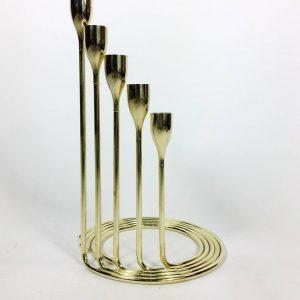 Brass Spiral Candelabra Set, Danish, 1960s
