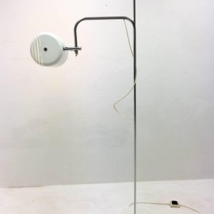 Adjustable White OMI Floor Light, 1970s