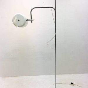 Adjustable White OMI Floor Light, 1970s