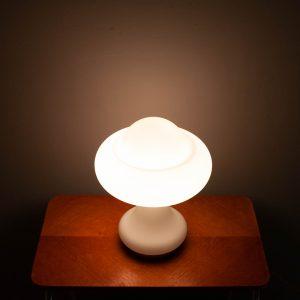 Peill & Putzler Frosted Glass Mushroom Lamp, 1960