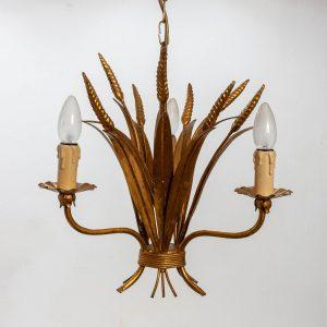 French Wheat Sheaf Pendant Lamp, 1970s