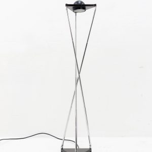 Black Kandido Table Light by F.A. Porsche for Lucitalia, 1980s