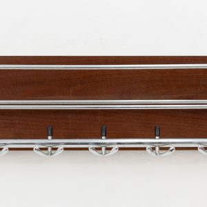 Hanging teak coat rack