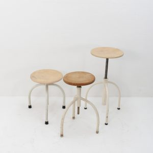 Three medical stools  Oostwoud