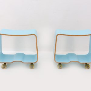 Two skateboard stools