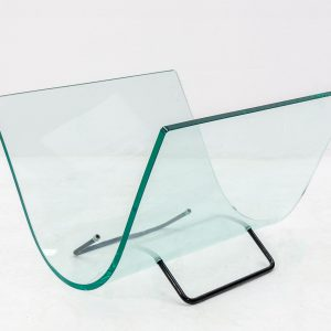 Fiam curved glass newspaper rack