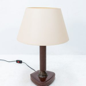 France stich leather desk lamp