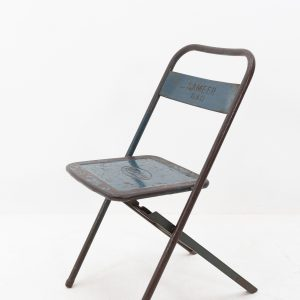 Industrial metal folding chair