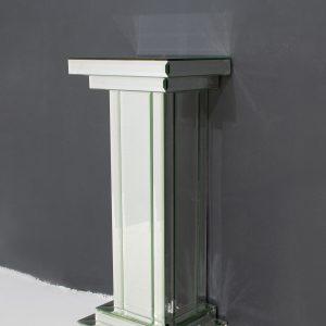 Mirrored  glass  Pedestal