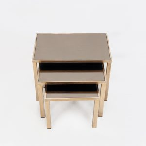 Belgo chrome nesting tables