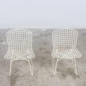 Two metal wire chairs Emu Italy 1970