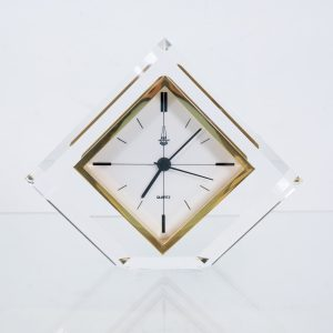 Hollywood Regency Arteplas Perspex  Clock