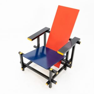 Gerrit.T.Rietveld Red And Blue armchair