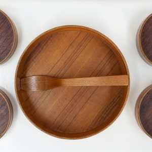 vintage Teak salad serving set