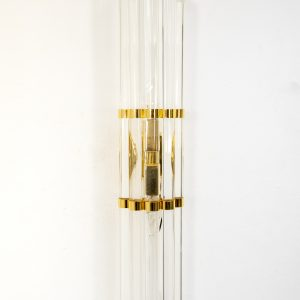 Set off eight Venini Brass wall lamps