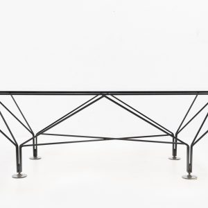 Paolo Piva style smoked glass coffee table  1980s
