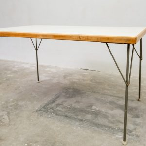 W Rietveld dining table by Gispen Culenborg Holland 1950s