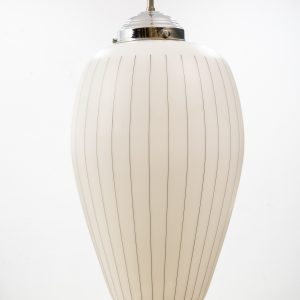 Vintage Glass shade  pendant lamp, 1960