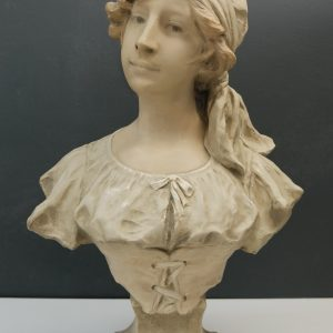 Art Nouveau Bust, young , girl France