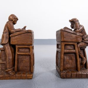 2 Plaster Bookends  Dutch 1930s