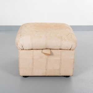 Leather patchwork pouf  1970s