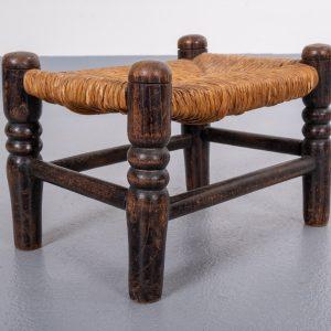 Small rattan foot stool