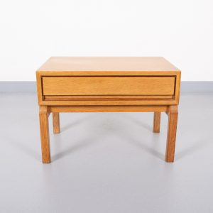 Oak side table  Scandinavian 1960s