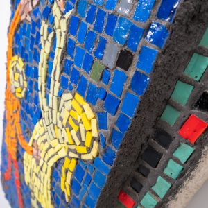 Playing children glass mosaic  1960s