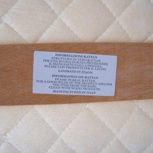 vintage rattan lounge chair Italian 1980s