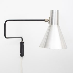 Paperclip wall lamp Anvia  1950s  J.J.M. Hoogervorst