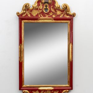 Classic Red wall mirror  1940s