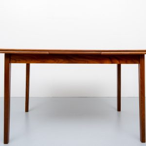 Teak expandable dining table Dutch 1960