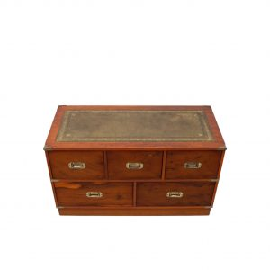 Mahogany Military campaign chest Harrods 1960s