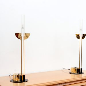 set Post modern table lamps Italy 1980s attri Giorgetti