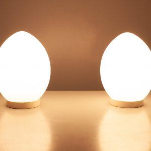 Egg lamps Verrerie de vianne France 1970s