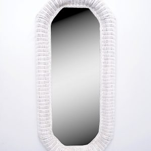 Large rattan mirror  Holland 1970s