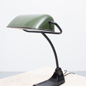 Beautiful Bauhaus desk lamp / notary lamp by BUR, Germany. Circa: 1920