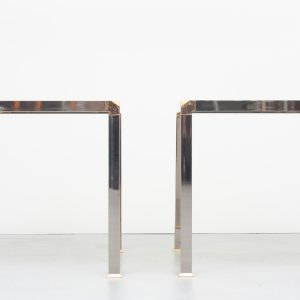 Chrome and Brass Side or sofa tables 1970s