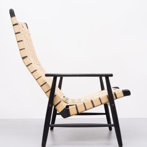 Strap Lounge chair 1950s  Jens Risom style