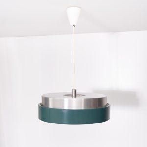 Aluminum pendant lamp  Fog & Mørup  style  1970s