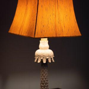 Palm Tree table lamp Ceramic France 1950s