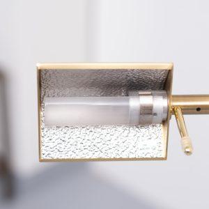 Brass swing arm floor lamp Holtkoetter Germany