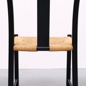 Ebonized dining chairs Scandinavian 1960s