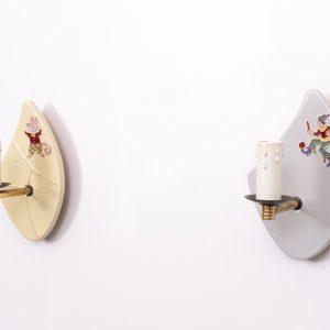 Ceramic children wall lamps  1950s