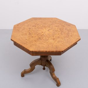 Antique Inlaid Walnut octagonal Occasional Table