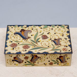 Tin plated box by wed j bekkers zoon dordrecht holland 1920s