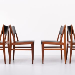 Teak dining chairs  Holland 1960s