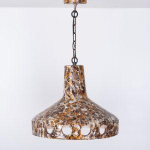 Flower Power Earth Ware chandelier  1960